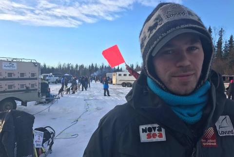 Joar Leifseth Ulsom på start foran løpet i helga, der han startet som nummer 23 av 24.