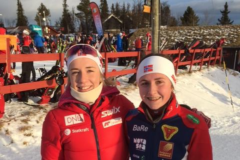 Emilie Ågheim Kalkenberg (t.v.) og Marthe Kråkstad Johansen viste igjen at de er blant de beste i sine kull.