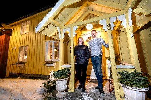 Restaurerte hus i Moholmen. Gerd Kristin Eilertsen Myrvang og Trond Myrvang.