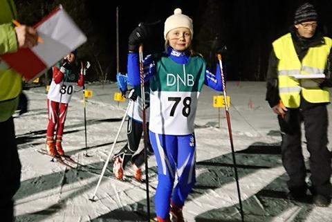 Kristine Lovise Andersen på startstreken på Emilmyra.