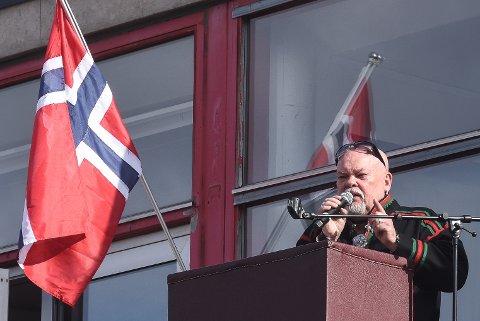 Sven Henriksen sa at Mo i Rana  er en by med fin flyt mot fremtiden i sin 17.-maitale.