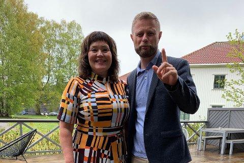Anita Sollie og helseminister Bent Høie (Høyre)