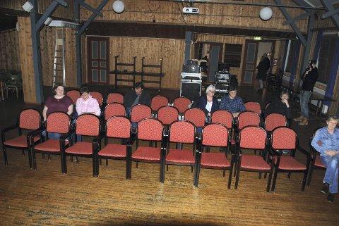 Spent Publikum før filmeN: Bare åtte stykker møtte til slutt opp.