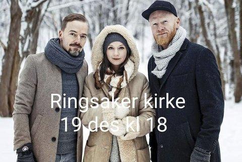 «Blåtoner»: konsert med Ole Børud, Maria Solheim og Lewi Bergrud i Ringsaker kirke torsdag klokka 18.