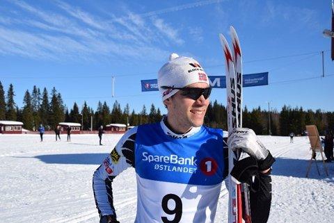 Comeback: Gudmund Storlien var strålende fornøyd med egen innsats under søndagens Veldrerenn. Han kom på andreplass i klassen M 26-30 med tiden 1:13:55.