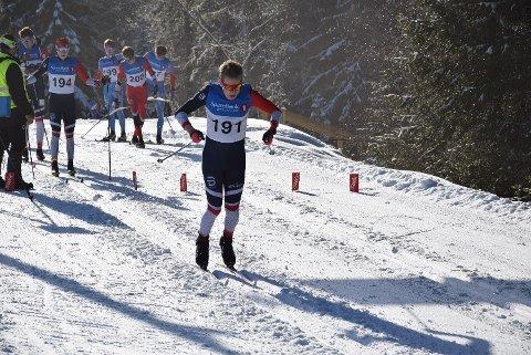 I toppen: Jonas Vika gikk fort på dagens 10 kilometer i junior-NM på Savalen. Han ble nummer 3.
