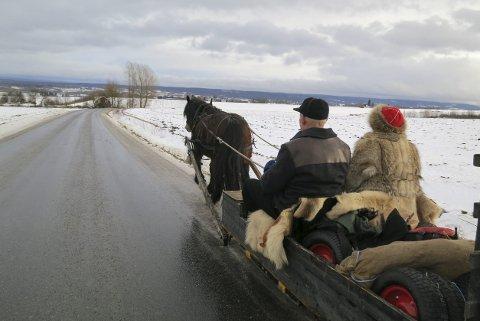 Lasskjørere: fra Hedemarken Lasskjørerforening ankommer Rørosmartnan tirsdag.