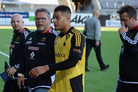 Roar Johansen og Bærum sportsklubb skal ha kommet til enighet Her på Aka arena under fjorårets kamp mot HBK i Hønefoss.