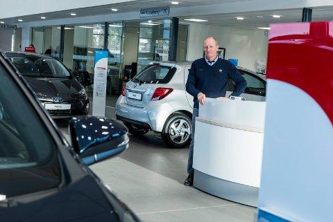 Christian Østheim er salgssjef hos Toyota Hønefoss.