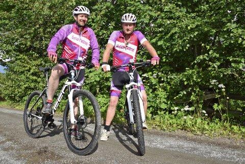 Rednecks sykler for Super Selma: Rednecks-stjernene Kristian Gulheim og Ole Petter Doc Grønlien presser seg gjerne gjennom Birken – for kreftsyke barns skyld.