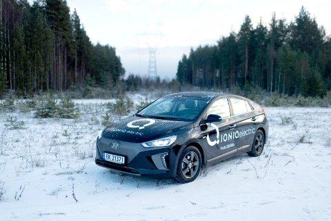 Hyundai Ioniq Electric, kåret til årets bil i Norge for 2017.