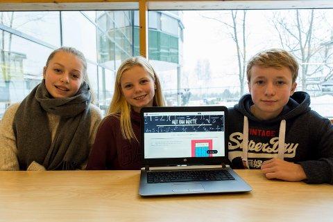 Tuva Iversen, Malin Sæter og Tinius Tunga har utviklet en nettside som gjør det mulig å få veiledning fra lærer også hjemme.