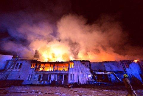 Skinnarberga bo- og omsorgshjem på Kongsberg brant ned natt til julaften.