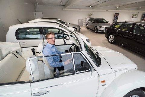 Daglig leder Erik Heiberg hos Hamax Auto AS.