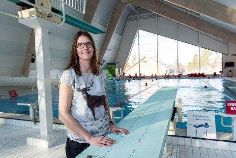 SØKER NY UTFORDRING: Cecilia Bjerke gir seg som daglig leder ved Ringeriksbadet.