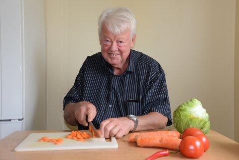 Per Karsten Dahl har blitt flink til å bruke mye grønnsaker. Men har fortsatt noen kilo å gå ned.