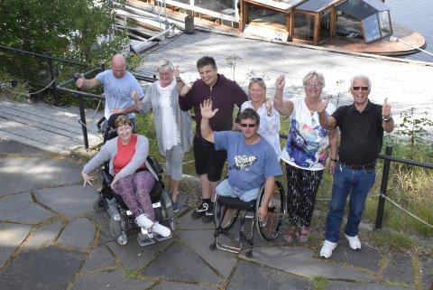 Klare for tur: Svend Otto Sundby (bak fra venstre), Ingeborg Høy, Christoffer Robin Vaet, Vibeke Kristiansen, Grethe Hagen og Ragnar Buraas. Foran: Mette Bratteteig og Atle Haglund.