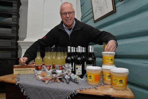 Preben L. Johannessen har mye å by på under søndagens matmarked på Ringerikes museum.