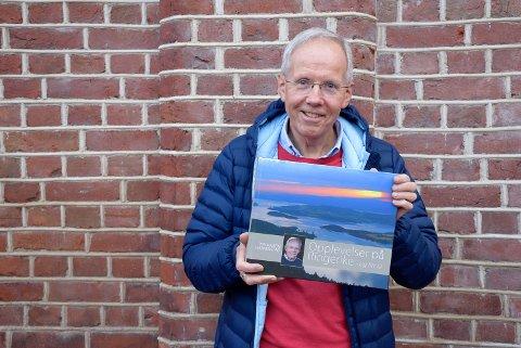 """Ny bok: -Akkurat passe mange sider, sier fotograf og forfatter av boka """"Opplevelser på Ringerike - og litt til"""", Per Martin Haakenstad."""