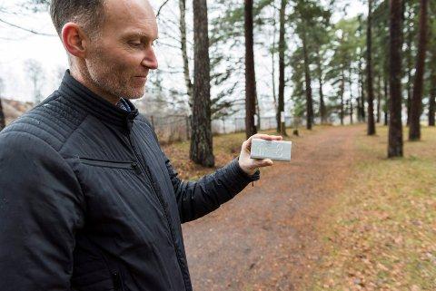 Merke: -Skilt av denne typen vil vise veien rundt i de forskjellige løypene, sier Olav Høgset og legger til at det kan bli noen endringer på utformingen.