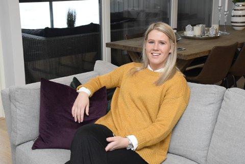 Fornøyde: Madeleine Brørby Fivelsdal og samboeren Steffen Engensbakken er svært fornøyde med ny bolig.