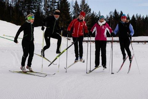 Munter gjeng: Stamina Bedriftshelsetjeneste har det gøy på jobb. Fra venstre ser vi Bente Treangen, Janne Venåsen, Karianne Bakke Loe, Katarzyna Buczek og Else Irene K Nordeng.