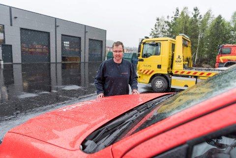 Håvard Brager og de andre bilbergerne i Auto-assistanse har flyttet fra Soknedalsveien til Kilemoen.
