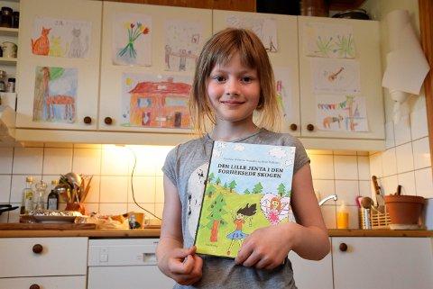 Debutant: Josefine Pedersen Brænden (9) fra Jevnaker har debutert som illustratør og barnebokforfatter.