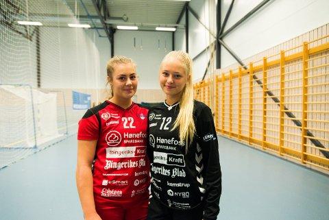 FORLATER HØNEFOSS: Oda Røhne og Cecilie Schjetlein forlater Hønefoss Sportsklubb til fordel for Stabæk.