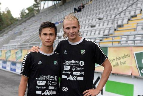 SNART SLUTT: Daniel Østebø og Sivert Øverby forlater HBK etter lørdagens hjemmekamp mot Alta. Duoen vil prøve noe nytt og ta høyere utdanning.