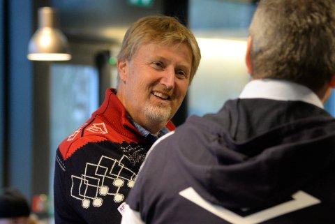 TOPPSJEFEN: Jan-Erik Aalbu, kommersiell sjef i Norges Håndballforbund, var storfornøyd med helgens arrangement i Hønefoss Arena.