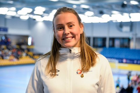GUIDE: HSK-spiller Ingeborg Røine scoret fem mål mot Hokksund, og ble delt HSK-toppscorer med Camilla Jacobsen.