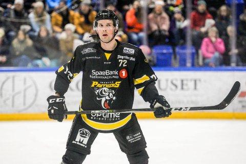 SCORET TO: Michael Söderberg sikret Panthers-seier mot Lørenskog.