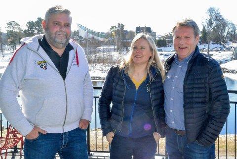 STORE PLANER: Bård Stevnebø, Janka Aasen og Tor Frithjov Nerby var på plass på Gledeshuset for å informere om klubbens framtidsplaner.