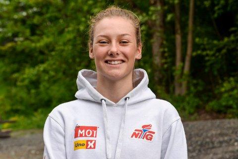 PROFFDRØM: Natalie Midtsveen (17) drømmer om en proffkarriere som syklist.