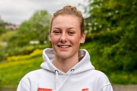 TALENT: Natalie Midtsveen er blant Norges største sykkeltalenter. I april vant hun første ritt i Norgescupen.