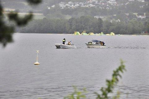 Båtbrann på Jevnaker.