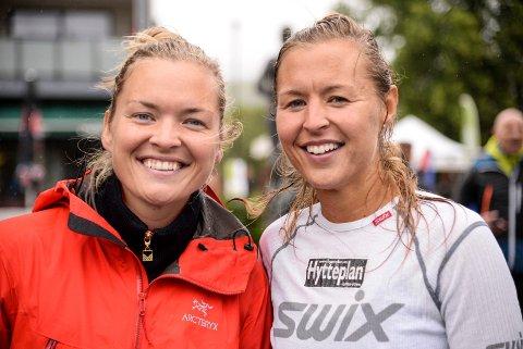 SEIRET SAMMEN: Søstrene Gunhild (29) og Marte (33) Pedersen var sterkest av damene i parmaraton.