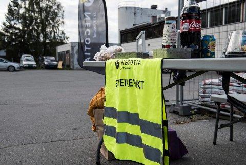 STREIK: Felleskjøpet Hønefoss er tatt ut i streik.