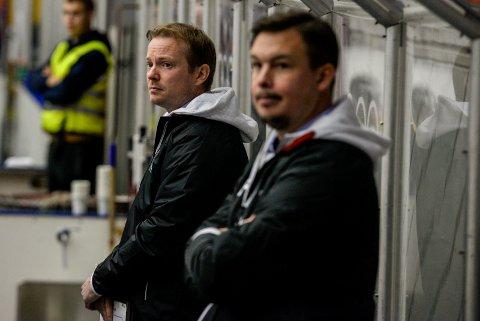 BYGGER LAG: Martin Boork (venstre) og Per Braxenholm skal nå bygge en tropp som er gode nok til å overleve i eliteserien.