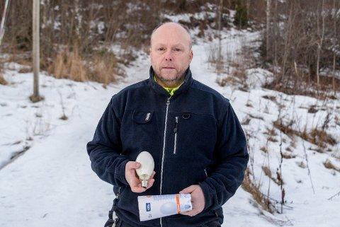Kjell Ivar Jevne og Heradsbygda IL er blant klubbene som vil samarbeide for å oppgradere lysløypene, etter at de gamle pærene har gått ut av produksjon.