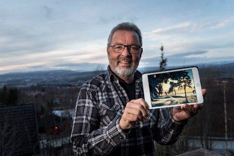 Vinner: Arne Jacobsen tok årets leserfoto for 2019 i slutten av januar mens han var på skitur.