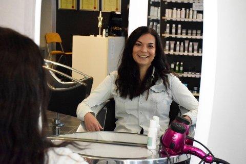 Fikk jobb: Sylvia Jegtvolden (29) ble ansatt som frisør hos Kai's Frisør i Hønefoss.