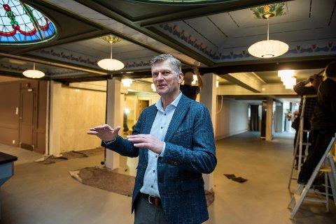 STARTET MED LITT: – Det startet med at vi ønsket å oppgradere litt, sier Tord Moe Laeskogen.