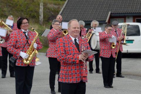 ALTERNATIV FEIRING: Det ble korpsmusikk på 17. mai på Jevnaker også i 2020.