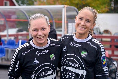 FORTSETTER: Silje Nyhagen har skrevet under for et nytt år i HBK, og gleder seg til å fortsette samarbeidet med spisskollega Emilie Finnevolden.