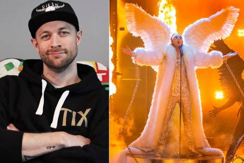 TIL FINALEN: Bjørnar Reime fra Hønefoss er med når Andreas Andresen Haukeland, bedre kjent som Tix synger under Eurovision-finalen lørdag.