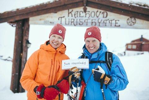 Just married: Ingeling og Sigbjørn Hesthammer Storli giftet seg på Kalhovd.