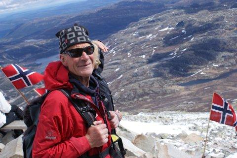 Jon Ingebrigtsen 17. mai på Gaustatoppen (arkivfoto)