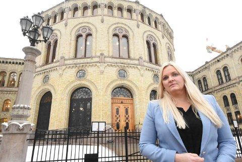 FORNØYD: Åslaug Sem-Jacobsen er glad for å ha fått igjennom flere viktige telemarkssaker i Senterpartiets alternative budsjettforslag.